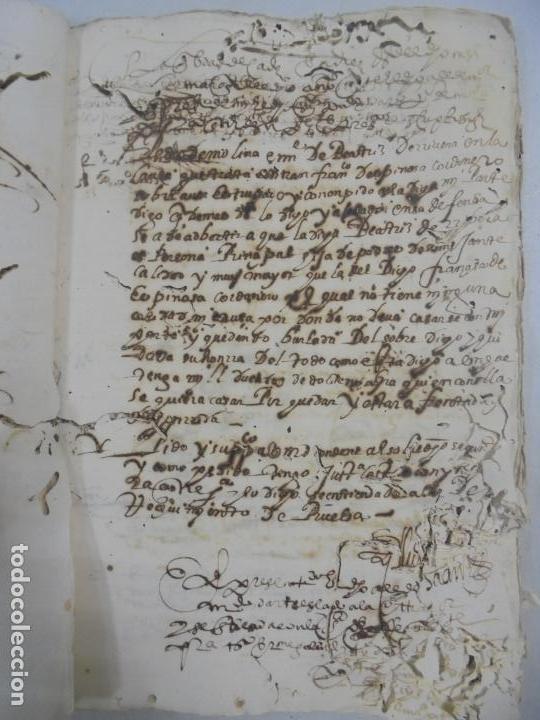 Manuscritos antiguos: QUERELLA POR ESTUPRO DE BEATUS DE JIBEZA CONTRA FRANCISCO DESPINOSSA. CÁDIZ 1594. VER FOTOS - Foto 40 - 133185418