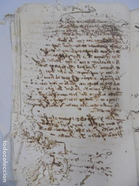 Manuscritos antiguos: QUERELLA POR ESTUPRO DE BEATUS DE JIBEZA CONTRA FRANCISCO DESPINOSSA. CÁDIZ 1594. VER FOTOS - Foto 41 - 133185418