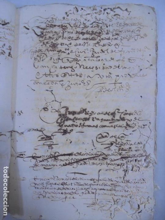 Manuscritos antiguos: QUERELLA POR ESTUPRO DE BEATUS DE JIBEZA CONTRA FRANCISCO DESPINOSSA. CÁDIZ 1594. VER FOTOS - Foto 42 - 133185418