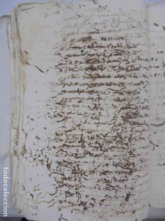 Manuscritos antiguos: QUERELLA POR ESTUPRO DE BEATUS DE JIBEZA CONTRA FRANCISCO DESPINOSSA. CÁDIZ 1594. VER FOTOS - Foto 43 - 133185418