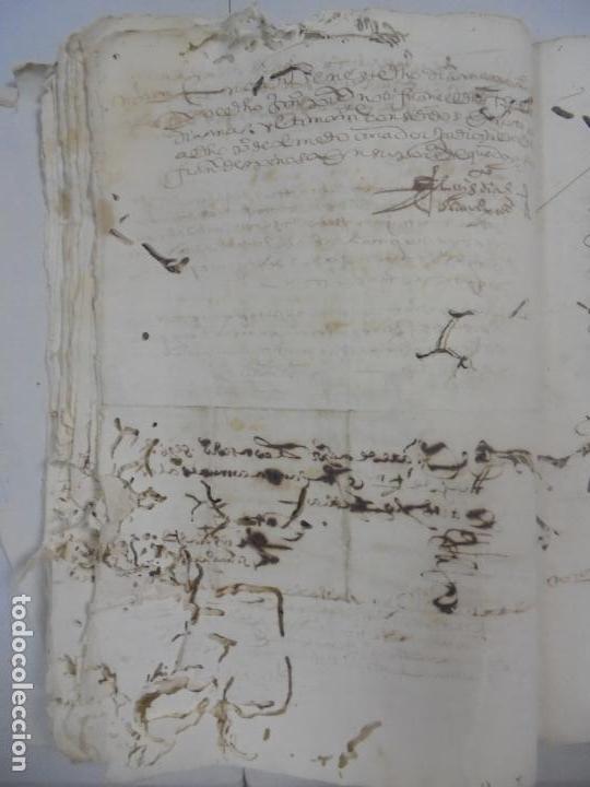 Manuscritos antiguos: QUERELLA POR ESTUPRO DE BEATUS DE JIBEZA CONTRA FRANCISCO DESPINOSSA. CÁDIZ 1594. VER FOTOS - Foto 45 - 133185418