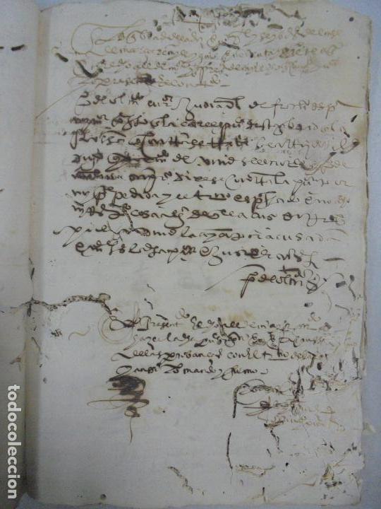 Manuscritos antiguos: QUERELLA POR ESTUPRO DE BEATUS DE JIBEZA CONTRA FRANCISCO DESPINOSSA. CÁDIZ 1594. VER FOTOS - Foto 47 - 133185418