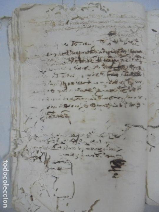 Manuscritos antiguos: QUERELLA POR ESTUPRO DE BEATUS DE JIBEZA CONTRA FRANCISCO DESPINOSSA. CÁDIZ 1594. VER FOTOS - Foto 48 - 133185418