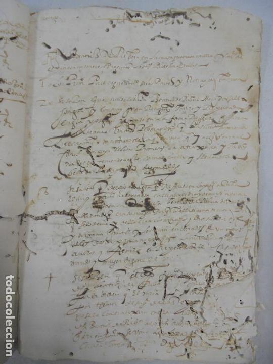 Manuscritos antiguos: QUERELLA POR ESTUPRO DE BEATUS DE JIBEZA CONTRA FRANCISCO DESPINOSSA. CÁDIZ 1594. VER FOTOS - Foto 49 - 133185418