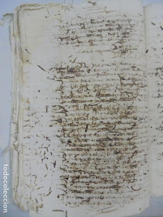 Manuscritos antiguos: QUERELLA POR ESTUPRO DE BEATUS DE JIBEZA CONTRA FRANCISCO DESPINOSSA. CÁDIZ 1594. VER FOTOS - Foto 50 - 133185418