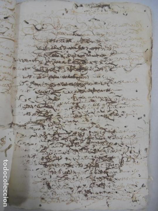 Manuscritos antiguos: QUERELLA POR ESTUPRO DE BEATUS DE JIBEZA CONTRA FRANCISCO DESPINOSSA. CÁDIZ 1594. VER FOTOS - Foto 53 - 133185418