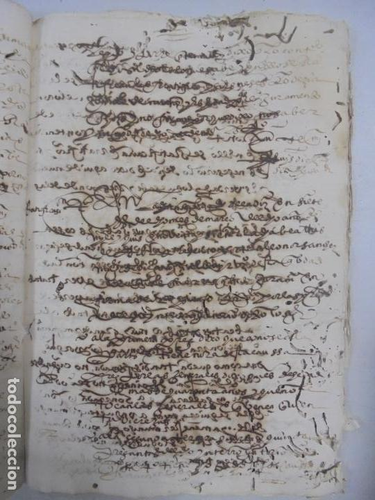 Manuscritos antiguos: QUERELLA POR ESTUPRO DE BEATUS DE JIBEZA CONTRA FRANCISCO DESPINOSSA. CÁDIZ 1594. VER FOTOS - Foto 54 - 133185418