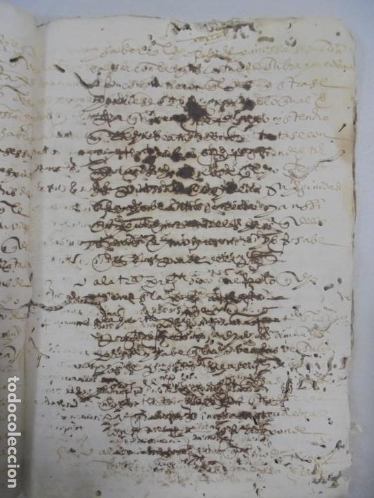 Manuscritos antiguos: QUERELLA POR ESTUPRO DE BEATUS DE JIBEZA CONTRA FRANCISCO DESPINOSSA. CÁDIZ 1594. VER FOTOS - Foto 55 - 133185418