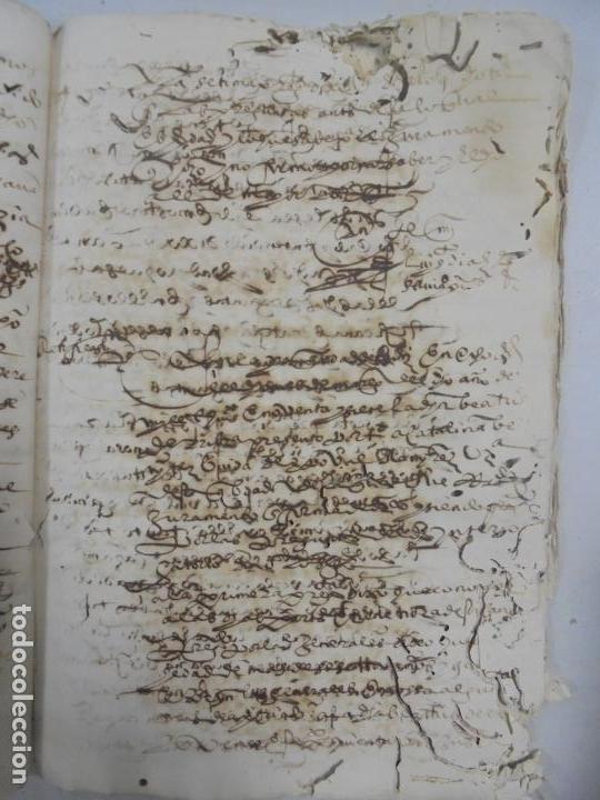 Manuscritos antiguos: QUERELLA POR ESTUPRO DE BEATUS DE JIBEZA CONTRA FRANCISCO DESPINOSSA. CÁDIZ 1594. VER FOTOS - Foto 56 - 133185418
