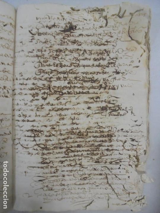 Manuscritos antiguos: QUERELLA POR ESTUPRO DE BEATUS DE JIBEZA CONTRA FRANCISCO DESPINOSSA. CÁDIZ 1594. VER FOTOS - Foto 58 - 133185418