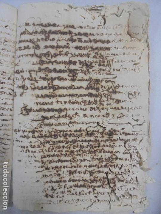 Manuscritos antiguos: QUERELLA POR ESTUPRO DE BEATUS DE JIBEZA CONTRA FRANCISCO DESPINOSSA. CÁDIZ 1594. VER FOTOS - Foto 60 - 133185418
