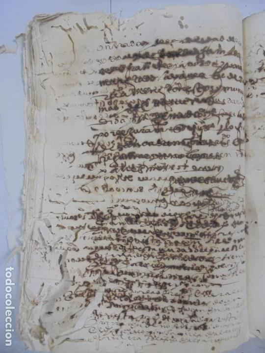 Manuscritos antiguos: QUERELLA POR ESTUPRO DE BEATUS DE JIBEZA CONTRA FRANCISCO DESPINOSSA. CÁDIZ 1594. VER FOTOS - Foto 62 - 133185418