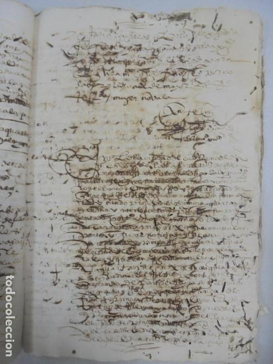 Manuscritos antiguos: QUERELLA POR ESTUPRO DE BEATUS DE JIBEZA CONTRA FRANCISCO DESPINOSSA. CÁDIZ 1594. VER FOTOS - Foto 64 - 133185418