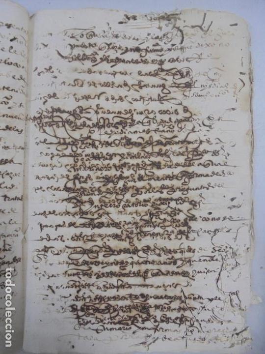 Manuscritos antiguos: QUERELLA POR ESTUPRO DE BEATUS DE JIBEZA CONTRA FRANCISCO DESPINOSSA. CÁDIZ 1594. VER FOTOS - Foto 68 - 133185418
