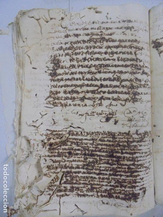 Manuscritos antiguos: QUERELLA POR ESTUPRO DE BEATUS DE JIBEZA CONTRA FRANCISCO DESPINOSSA. CÁDIZ 1594. VER FOTOS - Foto 69 - 133185418