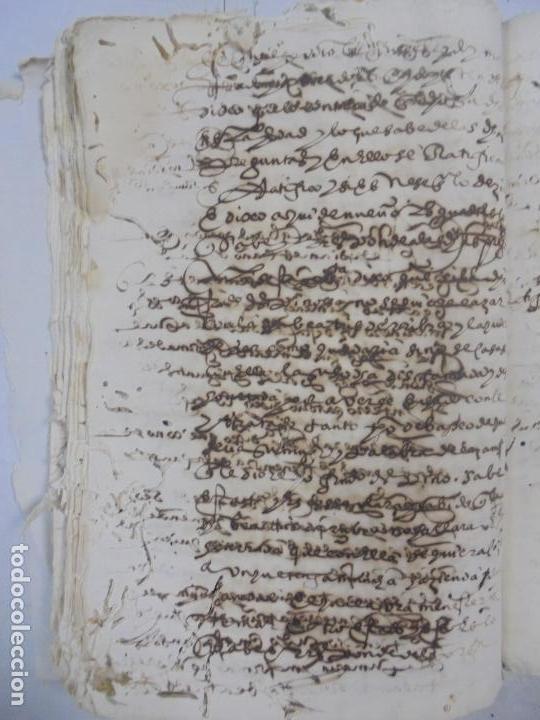 Manuscritos antiguos: QUERELLA POR ESTUPRO DE BEATUS DE JIBEZA CONTRA FRANCISCO DESPINOSSA. CÁDIZ 1594. VER FOTOS - Foto 70 - 133185418