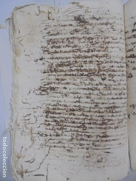 Manuscritos antiguos: QUERELLA POR ESTUPRO DE BEATUS DE JIBEZA CONTRA FRANCISCO DESPINOSSA. CÁDIZ 1594. VER FOTOS - Foto 71 - 133185418