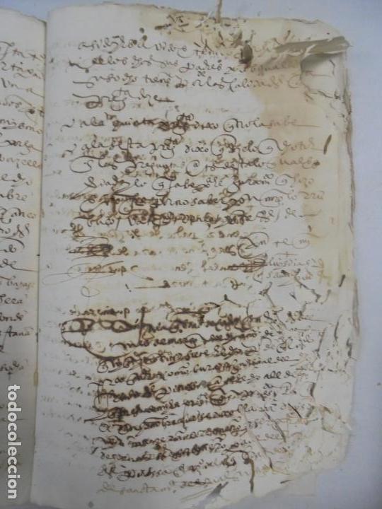 Manuscritos antiguos: QUERELLA POR ESTUPRO DE BEATUS DE JIBEZA CONTRA FRANCISCO DESPINOSSA. CÁDIZ 1594. VER FOTOS - Foto 72 - 133185418
