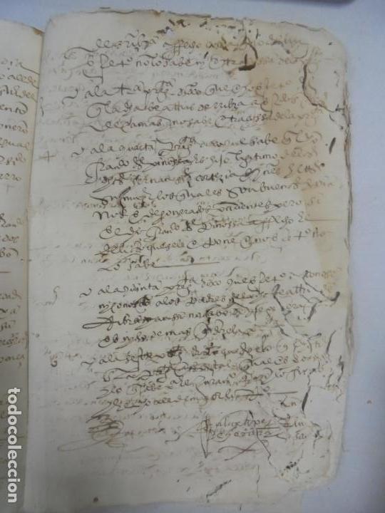 Manuscritos antiguos: QUERELLA POR ESTUPRO DE BEATUS DE JIBEZA CONTRA FRANCISCO DESPINOSSA. CÁDIZ 1594. VER FOTOS - Foto 78 - 133185418