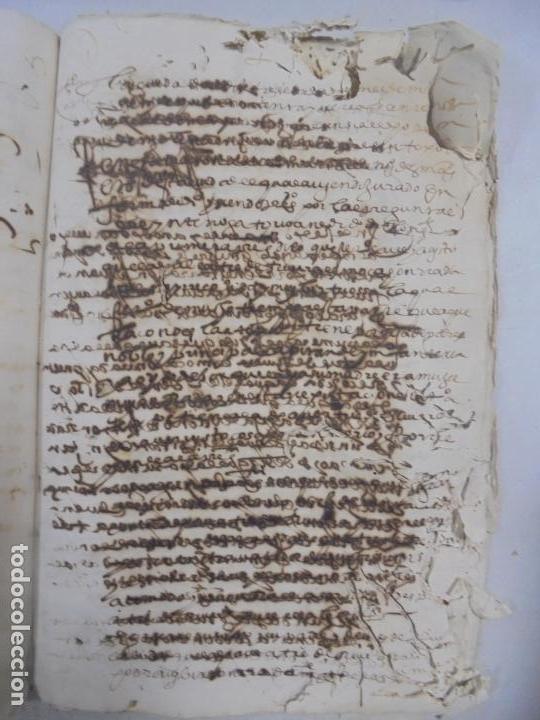 Manuscritos antiguos: QUERELLA POR ESTUPRO DE BEATUS DE JIBEZA CONTRA FRANCISCO DESPINOSSA. CÁDIZ 1594. VER FOTOS - Foto 79 - 133185418