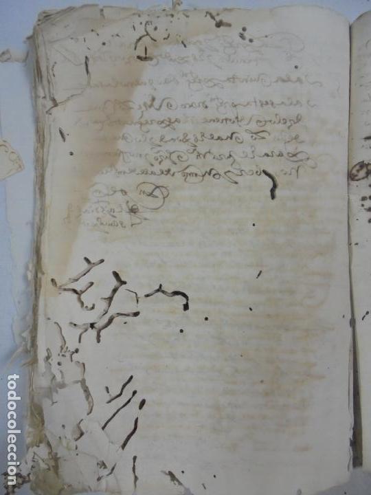 Manuscritos antiguos: QUERELLA POR ESTUPRO DE BEATUS DE JIBEZA CONTRA FRANCISCO DESPINOSSA. CÁDIZ 1594. VER FOTOS - Foto 80 - 133185418