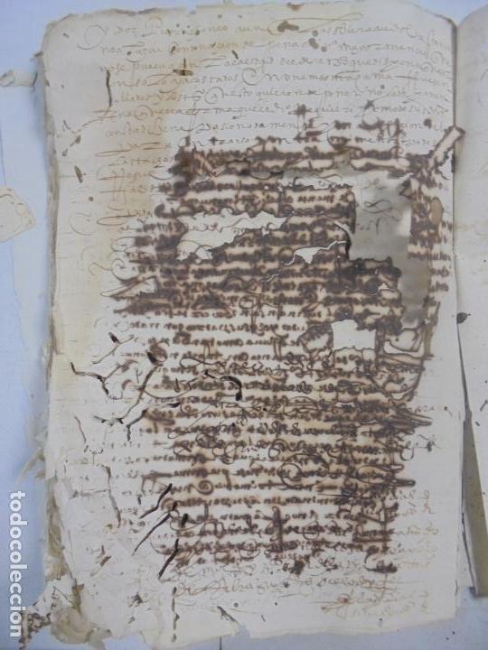 Manuscritos antiguos: QUERELLA POR ESTUPRO DE BEATUS DE JIBEZA CONTRA FRANCISCO DESPINOSSA. CÁDIZ 1594. VER FOTOS - Foto 81 - 133185418