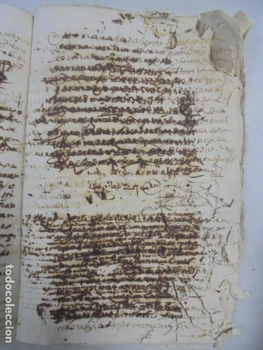 Manuscritos antiguos: QUERELLA POR ESTUPRO DE BEATUS DE JIBEZA CONTRA FRANCISCO DESPINOSSA. CÁDIZ 1594. VER FOTOS - Foto 82 - 133185418