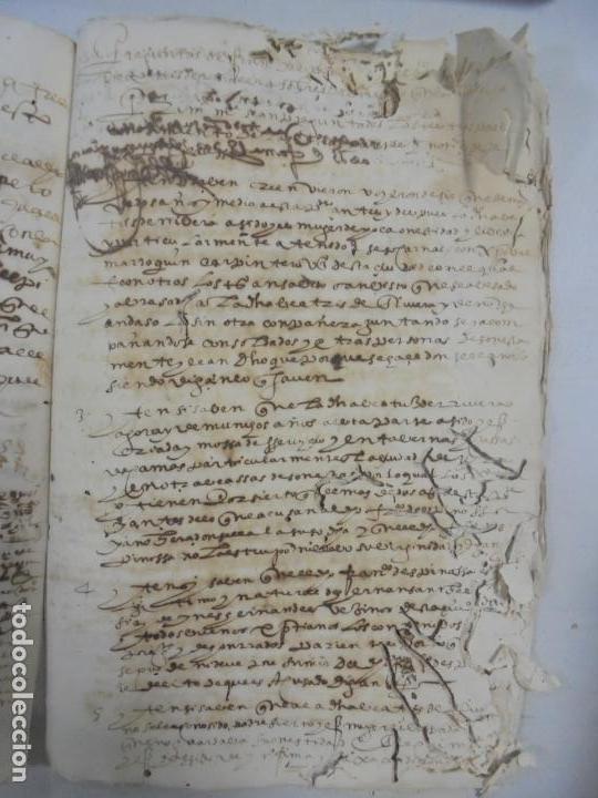 Manuscritos antiguos: QUERELLA POR ESTUPRO DE BEATUS DE JIBEZA CONTRA FRANCISCO DESPINOSSA. CÁDIZ 1594. VER FOTOS - Foto 83 - 133185418