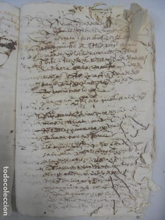 Manuscritos antiguos: QUERELLA POR ESTUPRO DE BEATUS DE JIBEZA CONTRA FRANCISCO DESPINOSSA. CÁDIZ 1594. VER FOTOS - Foto 85 - 133185418
