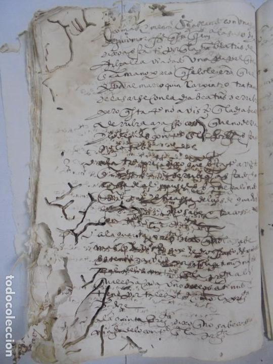 Manuscritos antiguos: QUERELLA POR ESTUPRO DE BEATUS DE JIBEZA CONTRA FRANCISCO DESPINOSSA. CÁDIZ 1594. VER FOTOS - Foto 86 - 133185418