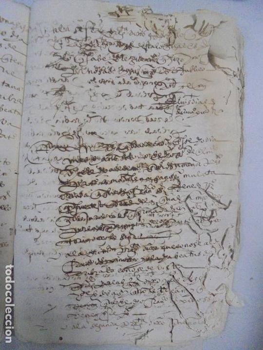 Manuscritos antiguos: QUERELLA POR ESTUPRO DE BEATUS DE JIBEZA CONTRA FRANCISCO DESPINOSSA. CÁDIZ 1594. VER FOTOS - Foto 87 - 133185418