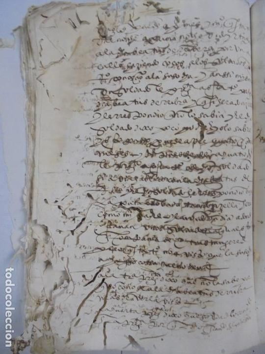 Manuscritos antiguos: QUERELLA POR ESTUPRO DE BEATUS DE JIBEZA CONTRA FRANCISCO DESPINOSSA. CÁDIZ 1594. VER FOTOS - Foto 88 - 133185418