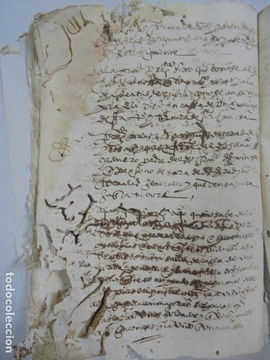 Manuscritos antiguos: QUERELLA POR ESTUPRO DE BEATUS DE JIBEZA CONTRA FRANCISCO DESPINOSSA. CÁDIZ 1594. VER FOTOS - Foto 89 - 133185418