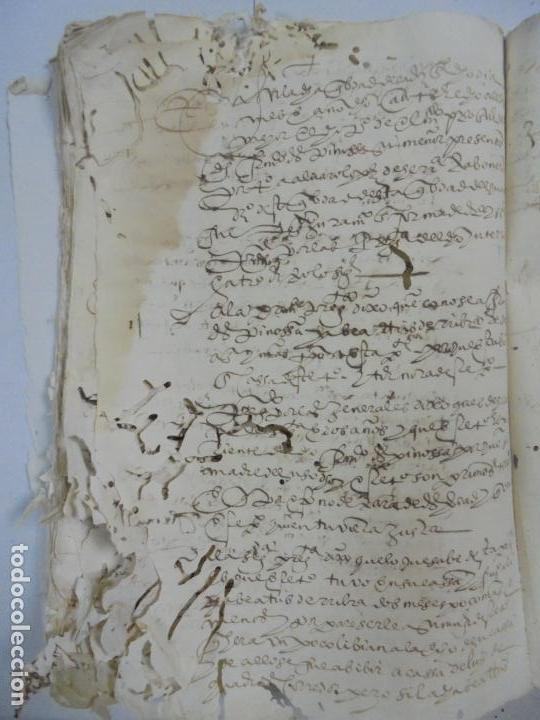 Manuscritos antiguos: QUERELLA POR ESTUPRO DE BEATUS DE JIBEZA CONTRA FRANCISCO DESPINOSSA. CÁDIZ 1594. VER FOTOS - Foto 90 - 133185418