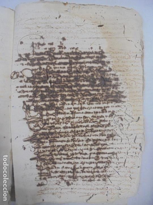 Manuscritos antiguos: QUERELLA POR ESTUPRO DE BEATUS DE JIBEZA CONTRA FRANCISCO DESPINOSSA. CÁDIZ 1594. VER FOTOS - Foto 91 - 133185418