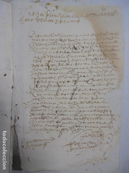 Manuscritos antiguos: QUERELLA POR ESTUPRO DE BEATUS DE JIBEZA CONTRA FRANCISCO DESPINOSSA. CÁDIZ 1594. VER FOTOS - Foto 93 - 133185418