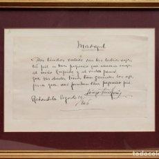 Manuscritos antiguos: DIEGO SAN JOSÉ DE LA TORRE : POEMA MANUSCRITO Y FIRMADO - 1946. Lote 133188994