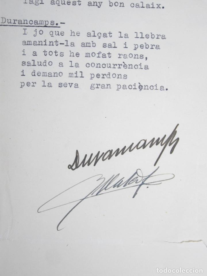 Manuscritos antiguos: RAFAEL DURANCAMPS (1891-1979) DISCURSO ESCRITO Y FIRMADO POR EL PINTOR. 3 HOJAS. - Foto 2 - 133300826