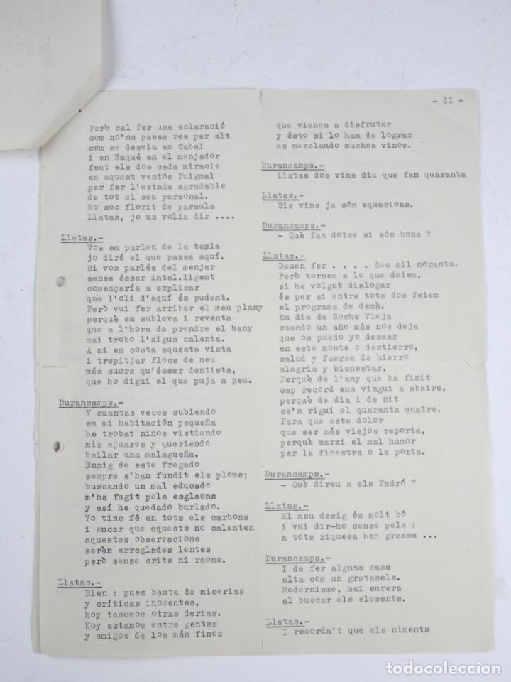 Manuscritos antiguos: RAFAEL DURANCAMPS (1891-1979) DISCURSO ESCRITO Y FIRMADO POR EL PINTOR. 3 HOJAS. - Foto 4 - 133300826