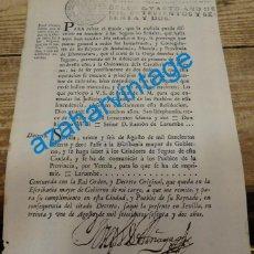 Manuscritos antiguos: SEVILLA, 1762, ORDEN DEL REY , PARA CORTAR LA OREJA DE LAS YEGUAS, PARA EVITAR FRAUDES, 1 HOJA. Lote 133339462