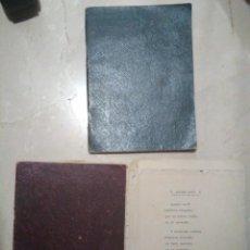 Manuscritos antiguos: POESIAS MANUSCRITAS (2 LIBRILLOS-CUADERNOS) Y CUARTILLAS MECANOGRAFIADAS. MALLORCA AÑOS 30?SIN AUTOR. Lote 133347418