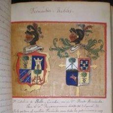 Manuscritos antiguos: MANUSCRITO: HISTORIA DE LA CASA DE FERNÁNDEZ ROBLES. GENEALOGÍA, HERÁLDICA. Lote 133403630