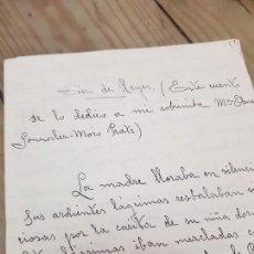 Manuscritos antiguos: CUENTO MANUSCRITO DÍA DE REYES YECLA MURCIA 1952. Lote 133449358