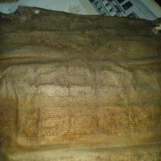 Manuscritos antiguos: GRAN MANUSCRITO SIGLO XV PIEL . Lote 134054254
