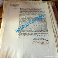 Manuscritos antiguos: 1827, CIRCULAR SOBRE LOS ARBITRIOS DE LA UNIVERSIDAD DE LEZO, GUIPUZCOA, 1 PAGINA. Lote 134272762