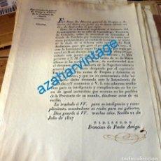 Manuscritos antiguos: 1827, CIRCULAR SOBRE DEMANDA DEL MUNICIPO DE CANTALLOPS AL CONDE DE PERELADA, 1 PAGINA. Lote 134273074