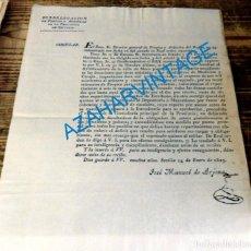 Manuscritos antiguos: 1829, CIRCULAR SUELDO MEDICOS DE LA LOCALIDAD DE MECO, MADRID, 1 HOJA. Lote 134601510