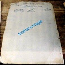 Manuscritos antiguos - Fernando VII sello 4º timbre 40 mar. habilitado 1815, sin escudo, timbrologia - 134652534