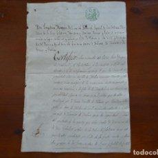 Manuscritos antiguos: DUQUE MEDINACELI, CASAS CALLE ATOCHA MADRID, CERTIFICACIÓN DEUDAS ORDEN CALATRAVA, 1854, 5 PAGS. Lote 134896014