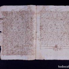 Manuscritos antiguos: CARTA DE DONACION, SORIA 1554. Lote 135192510